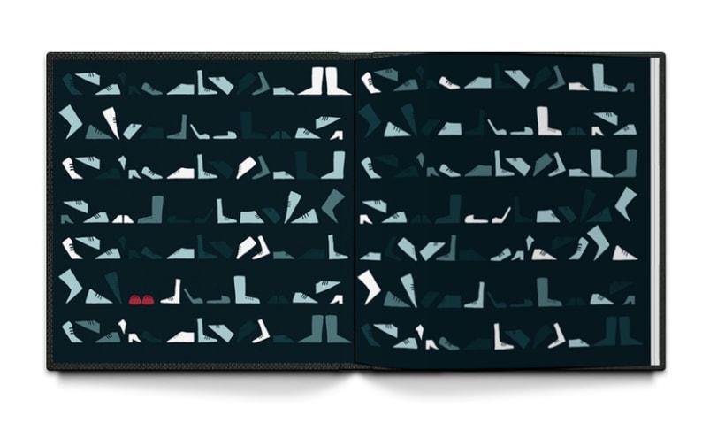Ilustración libro infantil: Los zapatos rojos 1