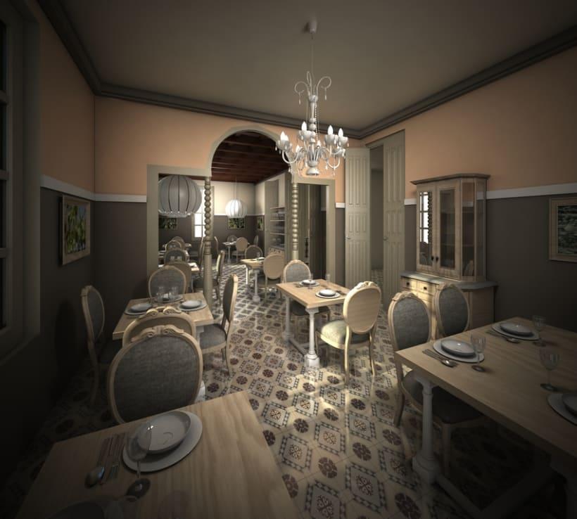 Restaurante en una antigua Casa Modernista 2