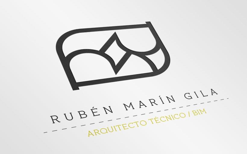 Diseño de identidad y tarjeta para Rubén Marín Gila 4