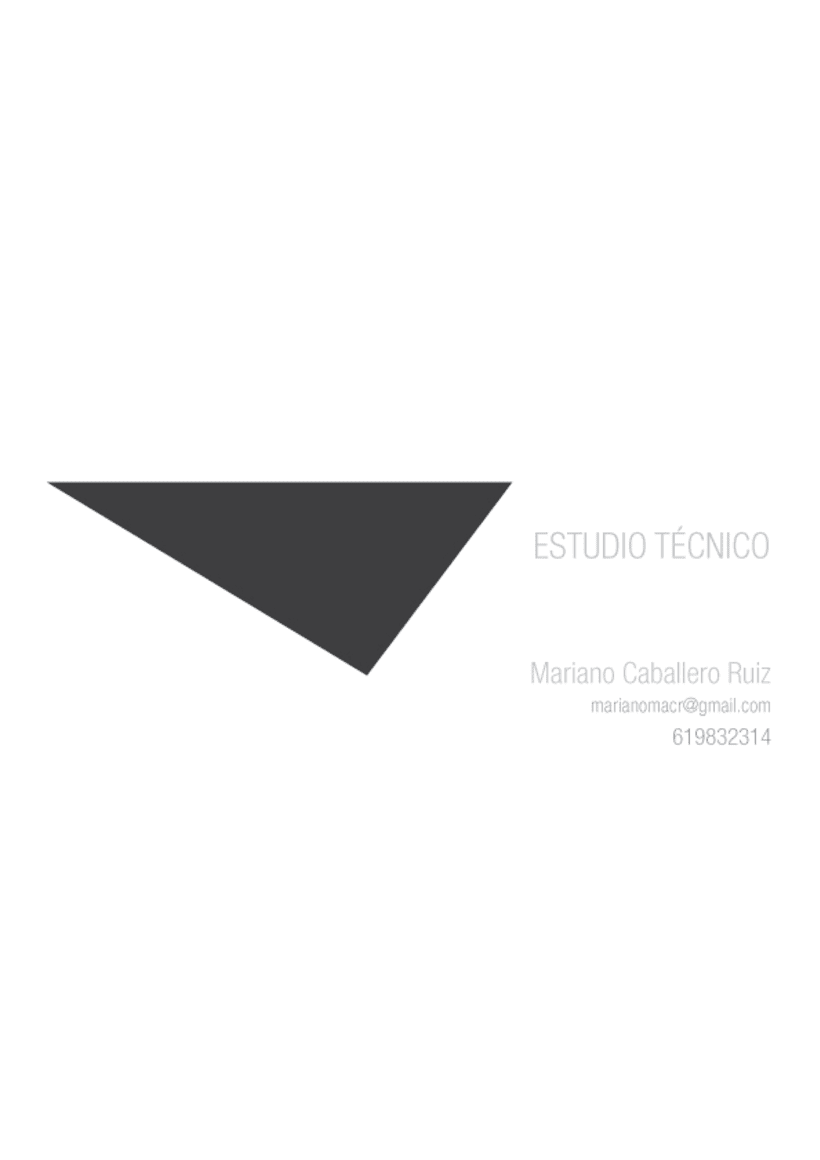 Estudio Técnico/ Mariano Caballero 1