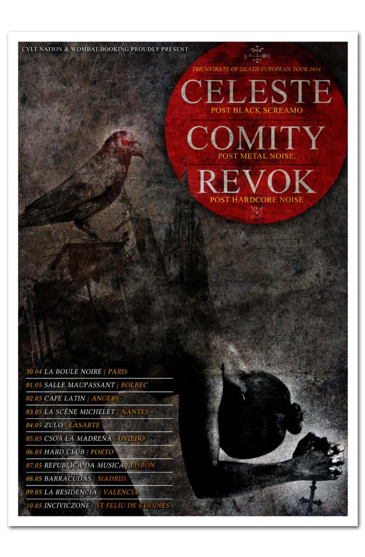 CELESTE + COMITY + REVOK | tour poster -1