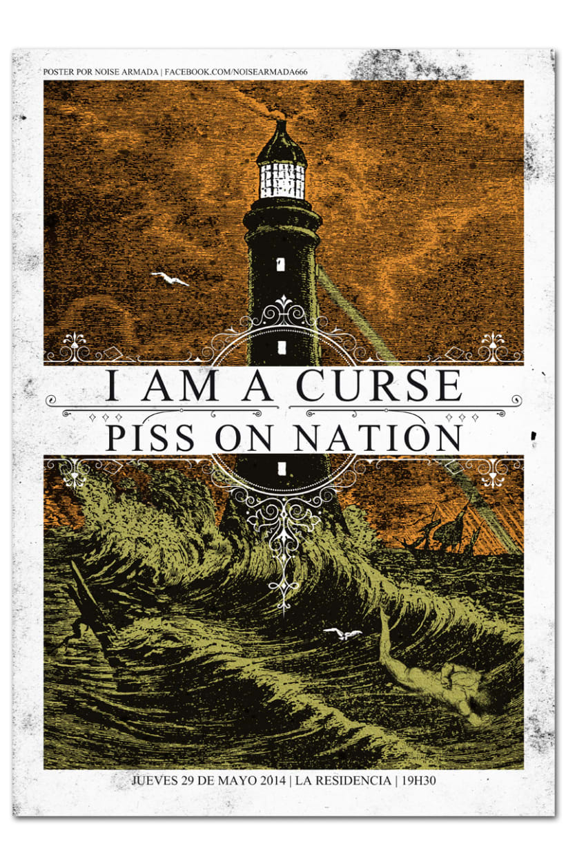 I AM A CURSE + PISS ON NATION | poster -1