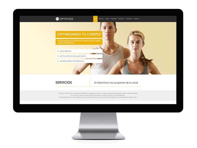 Optimmus - diseño y desarrollo web 0