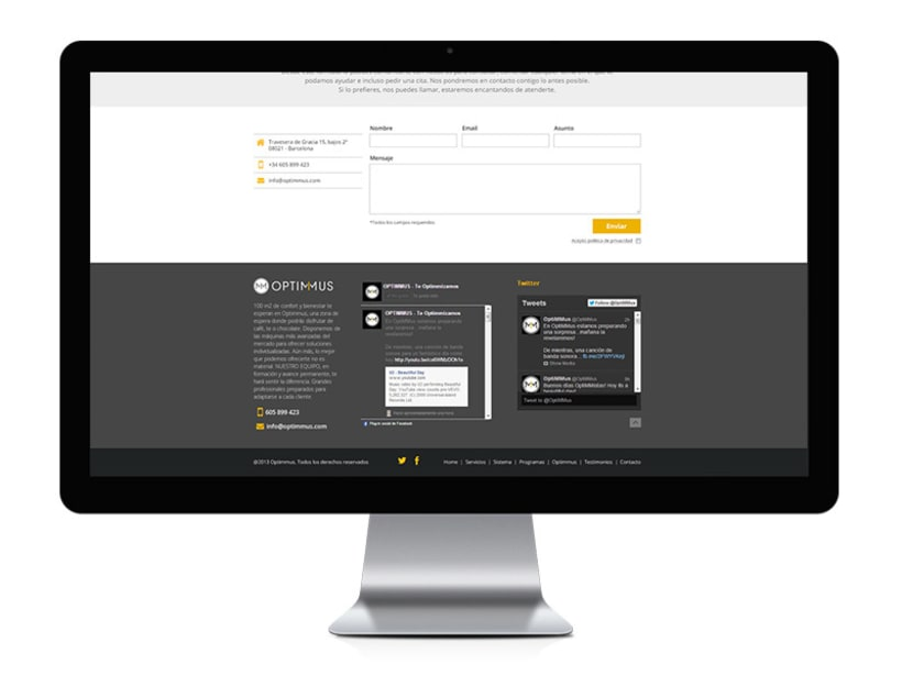 Optimmus - diseño y desarrollo web 5