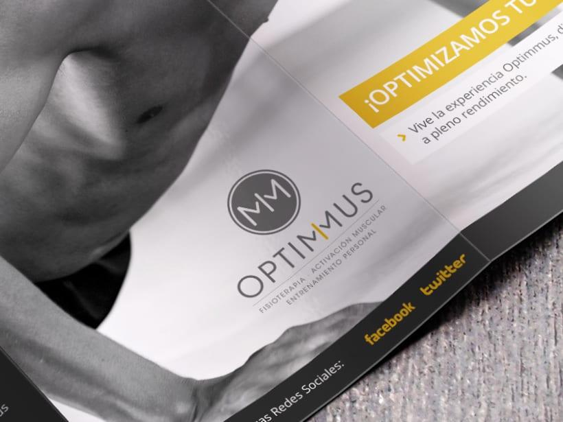 Optimmus - Tríptico informativo corporativo 4