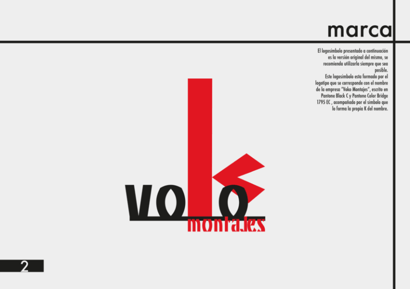 Manual Identidad Corporativa Voko Montajes 1