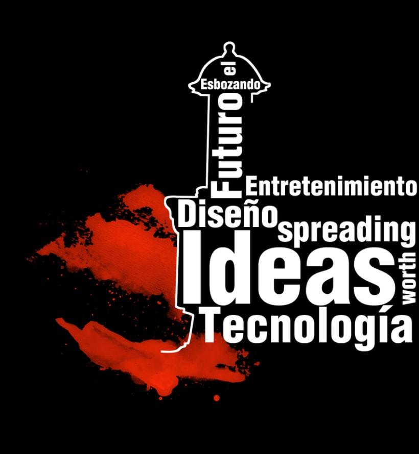 TedxBaluarte, diseño cartelería y camisetas 2