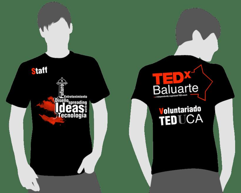 TedxBaluarte, diseño cartelería y camisetas 3