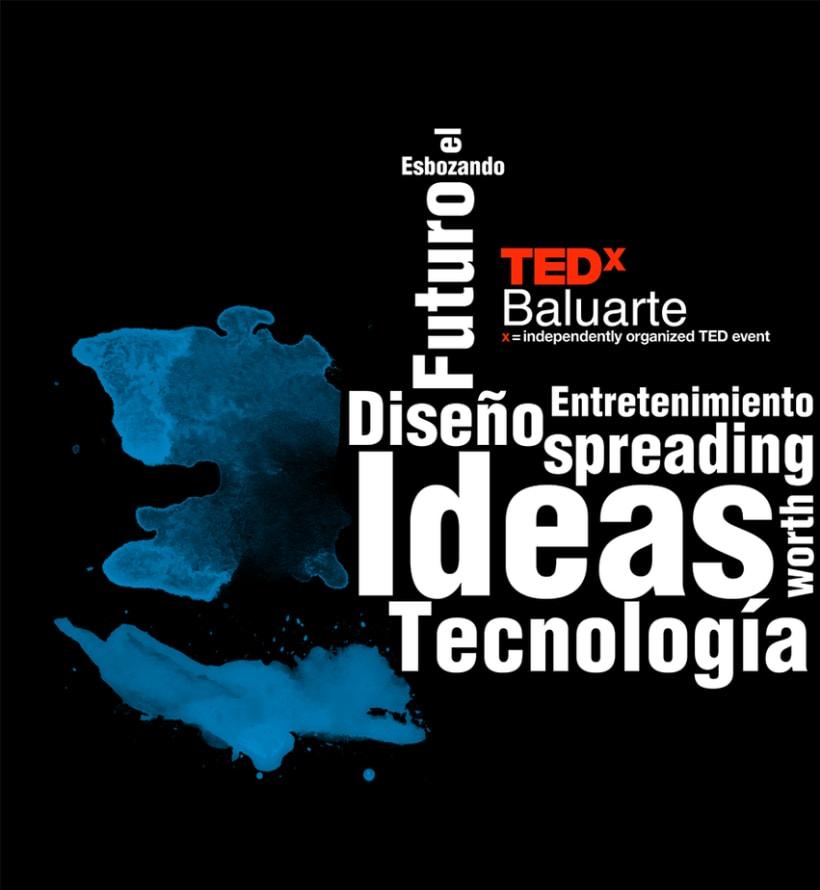 TedxBaluarte, diseño cartelería y camisetas 1
