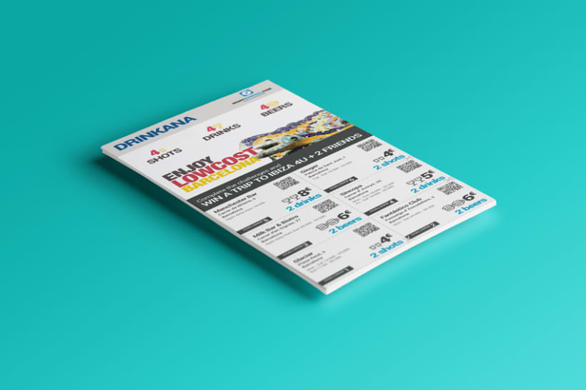 UI Design de Flyer estilo Gincana 3