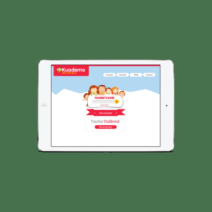 Diseño Visual de la aplicación de aprendizaje de inglés para niños 1
