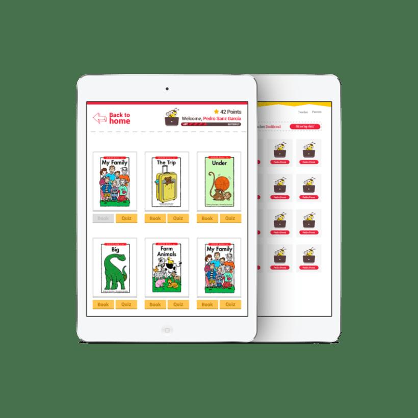 Diseño Visual de la aplicación de aprendizaje de inglés para niños 2