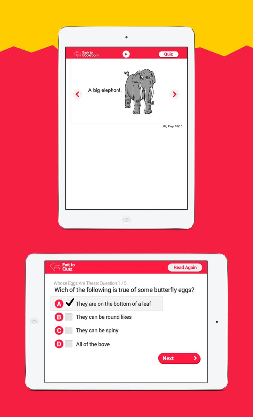 Diseño Visual de la aplicación de aprendizaje de inglés para niños 3