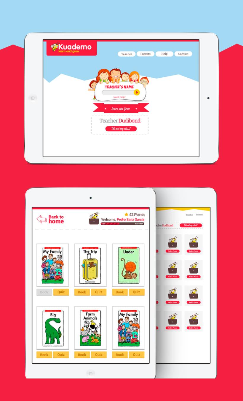 Diseño Visual de la aplicación de aprendizaje de inglés para niños 0