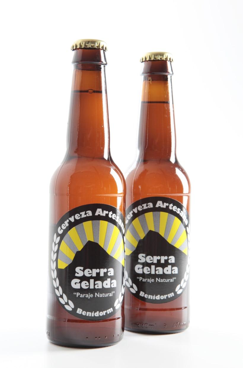 Etiqueta cerveza artesana Serra Gelada 0