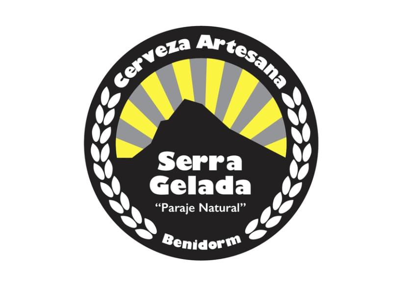Etiqueta cerveza artesana Serra Gelada 1