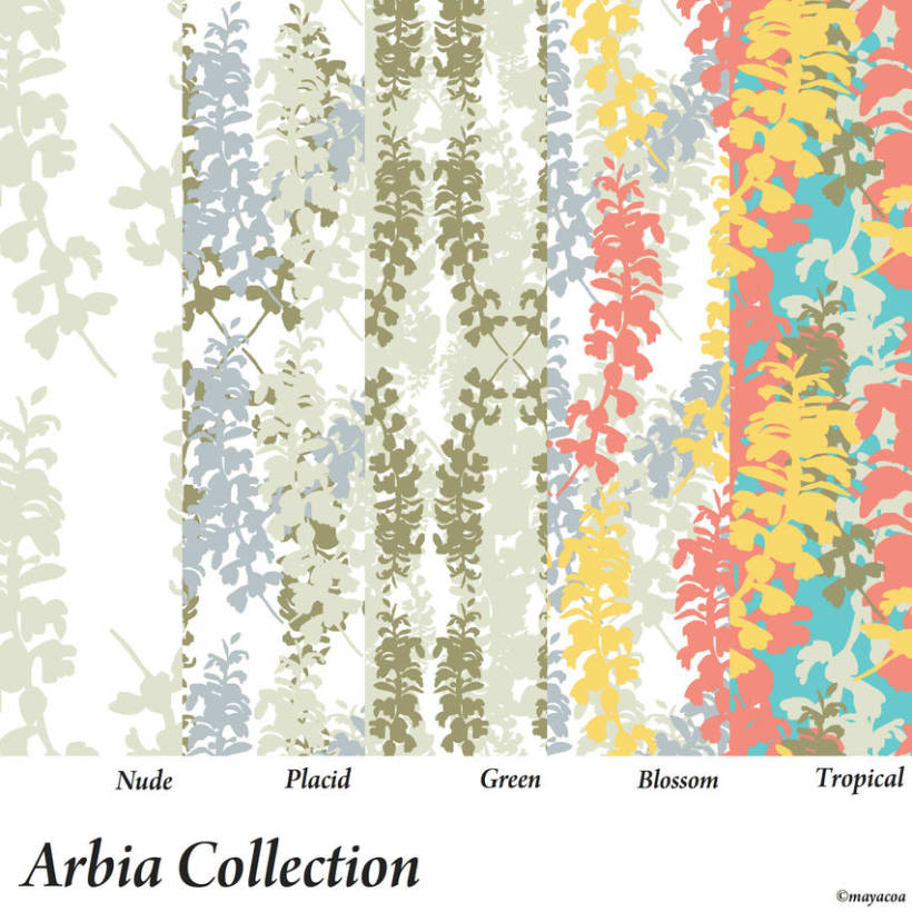 Arbia Collection, Diseño estampado textil y superficie 0