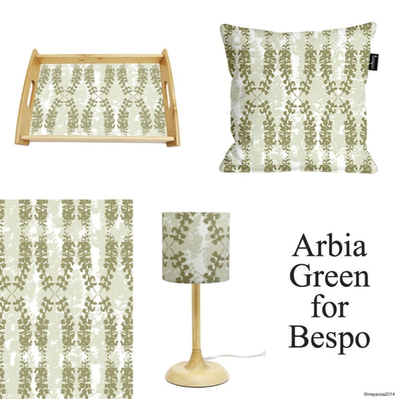Arbia Collection, Diseño estampado textil y superficie 1