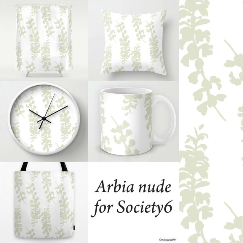 Arbia Collection, Diseño estampado textil y superficie 3
