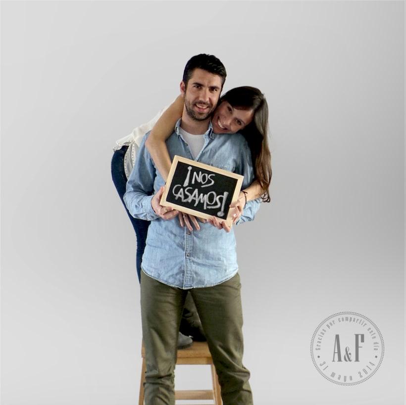 """Boda A&F """"Nos casamos"""" / Diseño Gráfico / Eventos 0"""