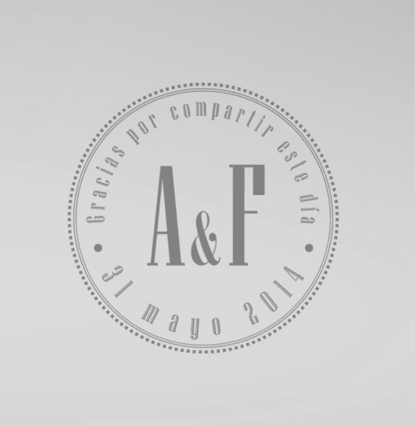 """Boda A&F """"Nos casamos"""" / Diseño Gráfico / Eventos 1"""
