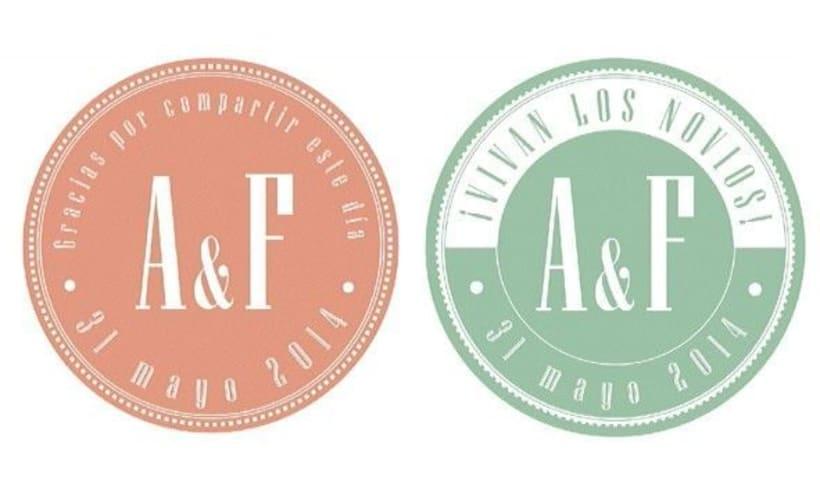 """Boda A&F """"Nos casamos"""" / Diseño Gráfico / Eventos 2"""