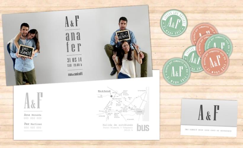 """Boda A&F """"Nos casamos"""" / Diseño Gráfico / Eventos 3"""