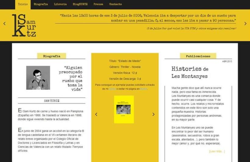 Sam Kurtz - Escritor / Branding / Identidad / Diseño Web 1