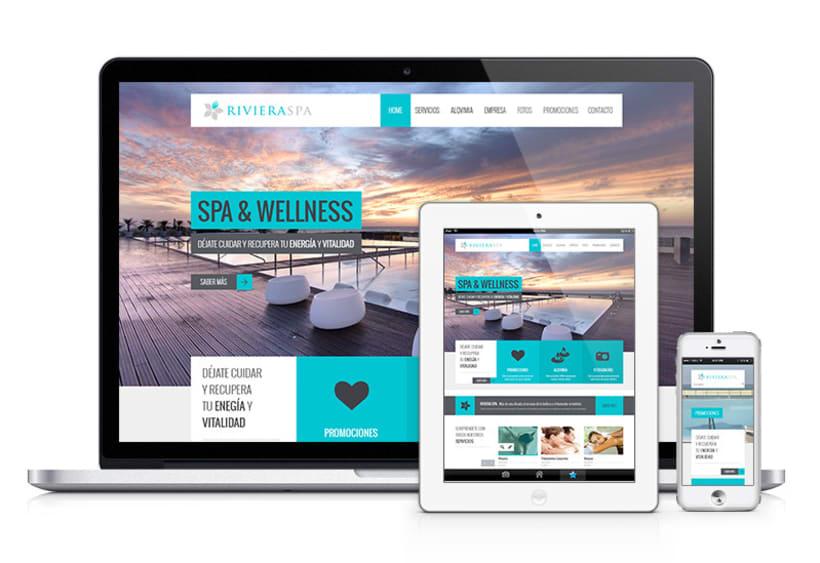 RIVIERA SPA: Diseño y Desarrollo Web 0
