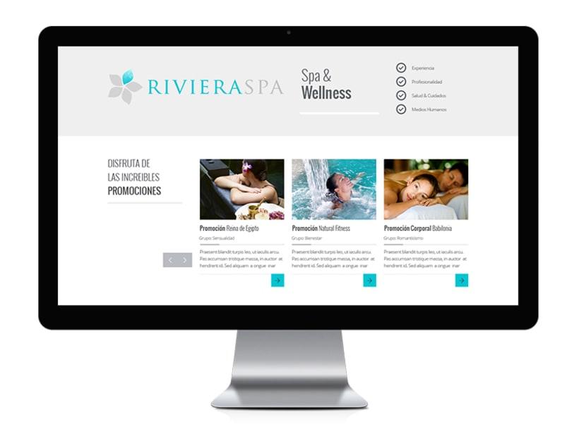 RIVIERA SPA: Diseño y Desarrollo Web 2