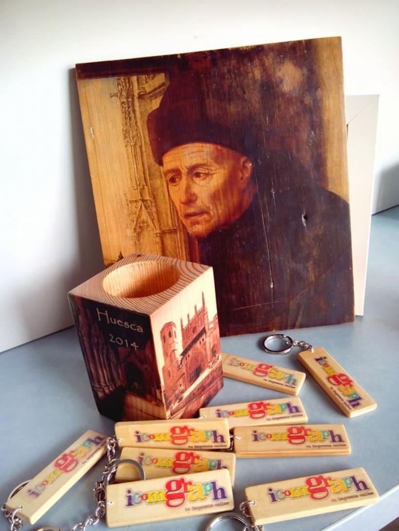 Impresión artesanal en madera 2