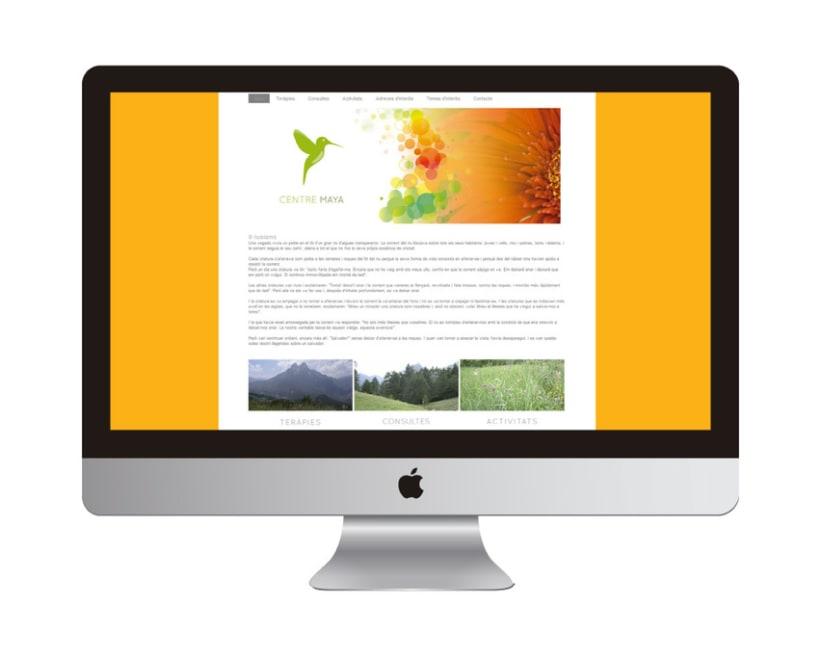 Centre Maya. Creación de logotipo y diseño web 1