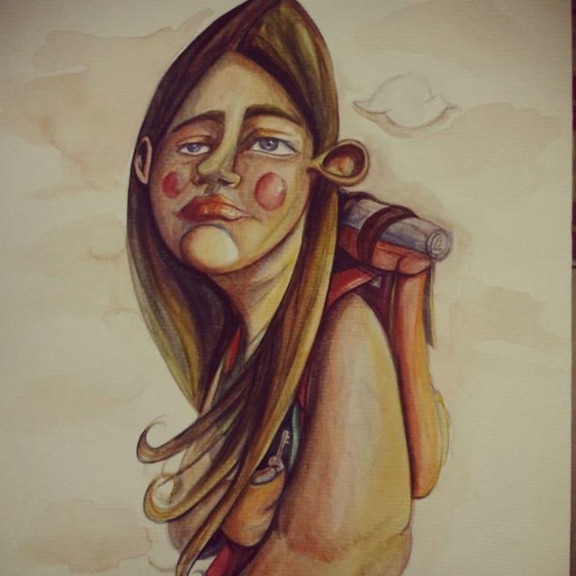 watercolor - acuarela 4