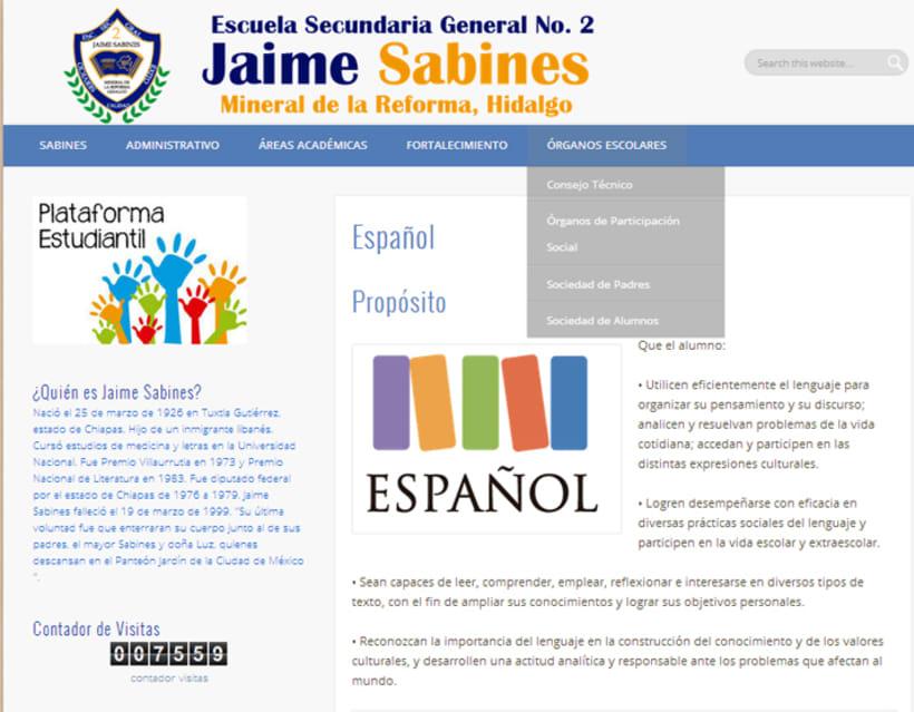 Página Web Secundaria 3