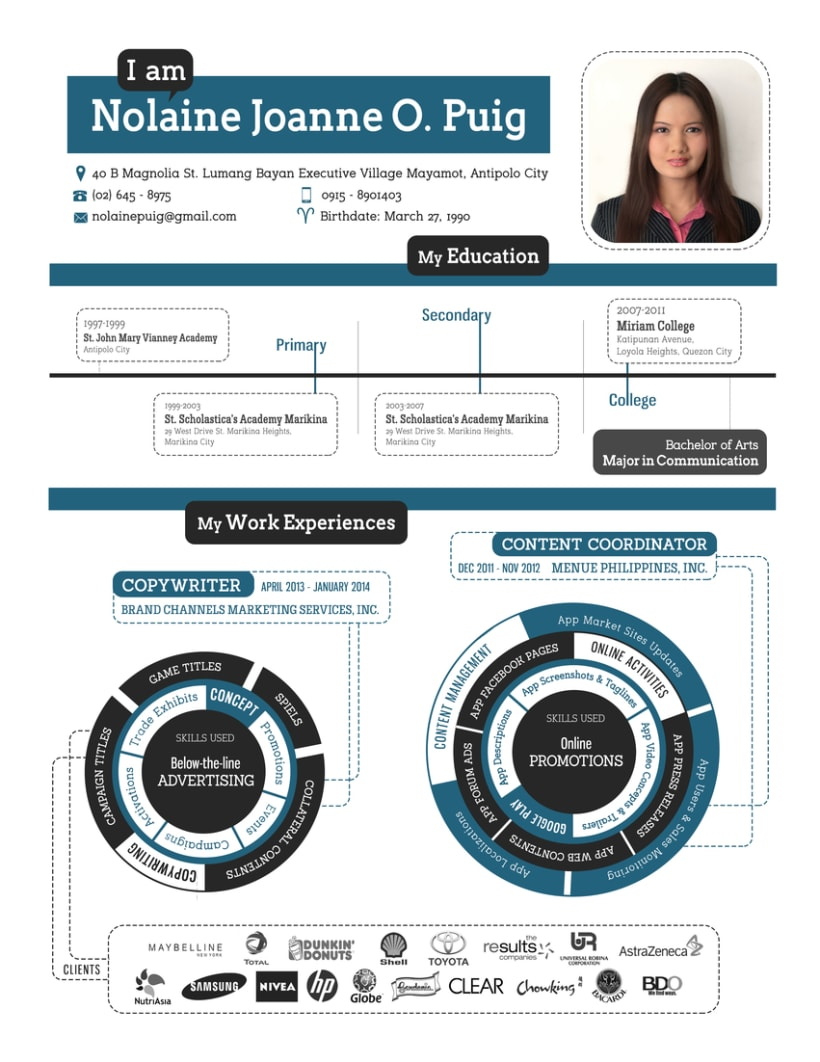 Creative CV [corporate infographics] 0