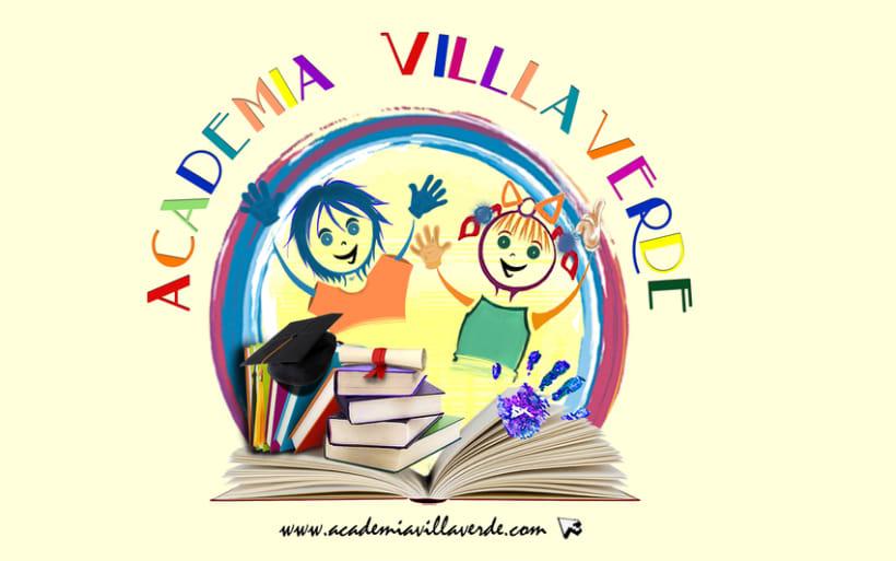 Academia Villaverde Logo design 0