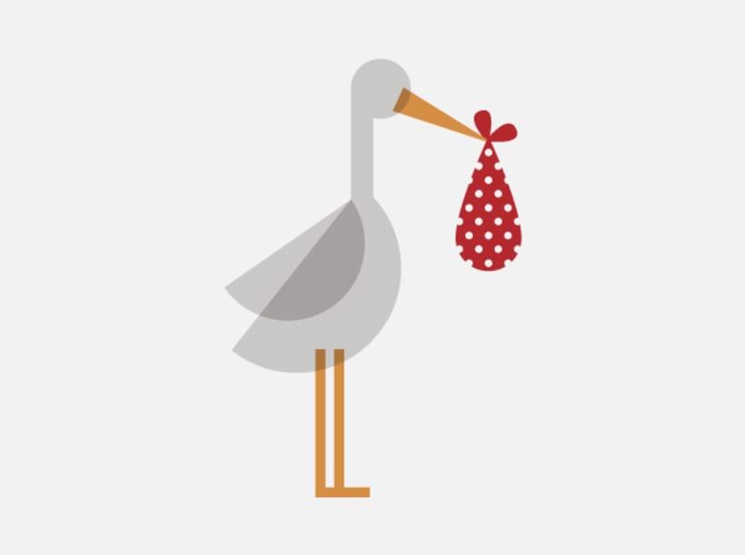 Stork stamp 0
