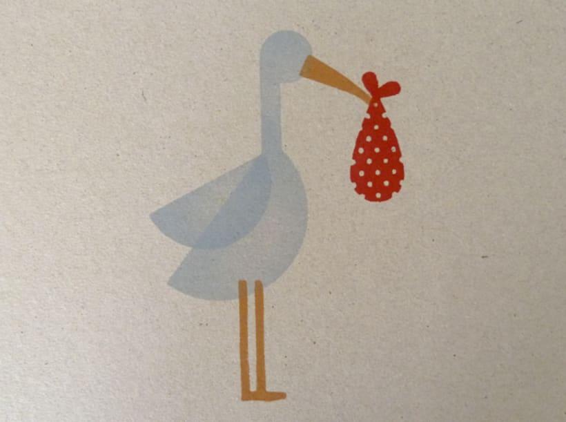Stork stamp 4