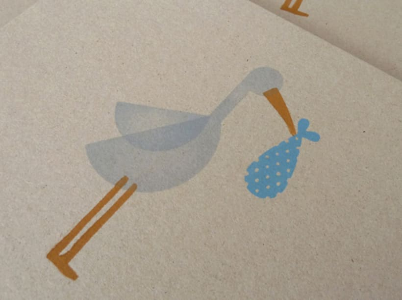 Stork stamp 5