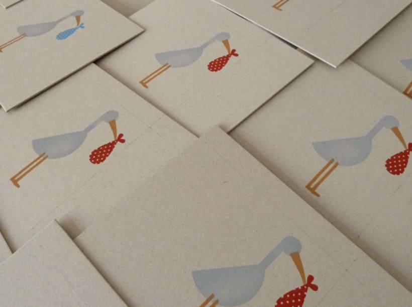 Stork stamp 9