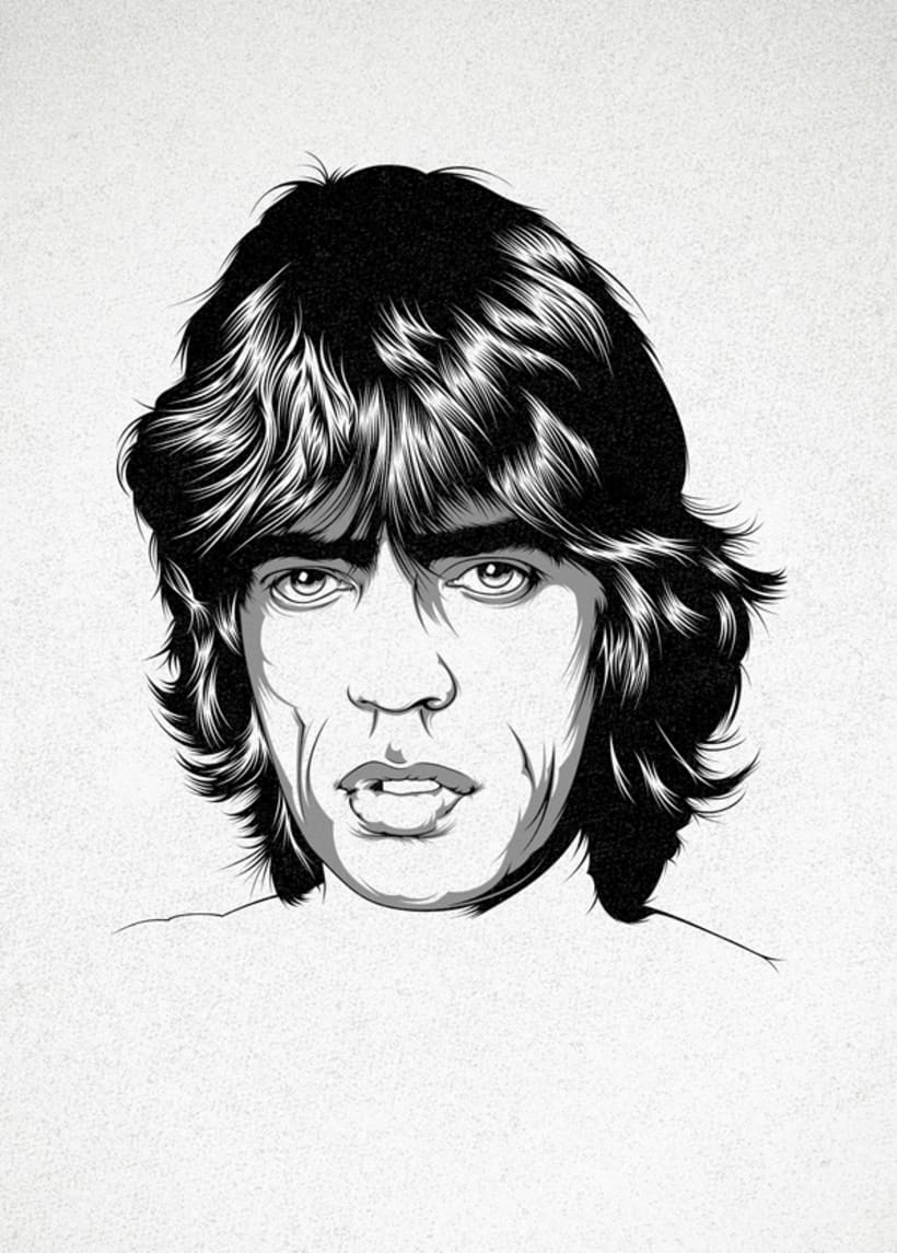 Mick Jagger Art Print 0