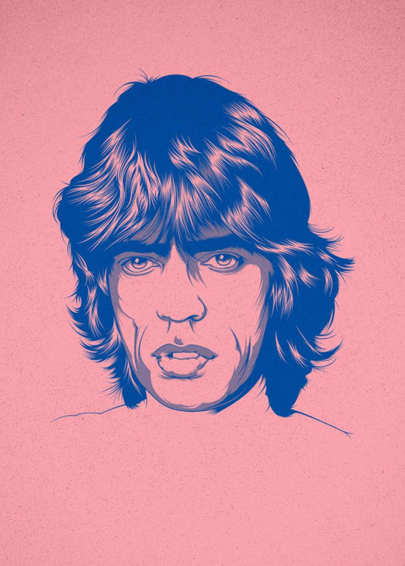 Mick Jagger Art Print 1