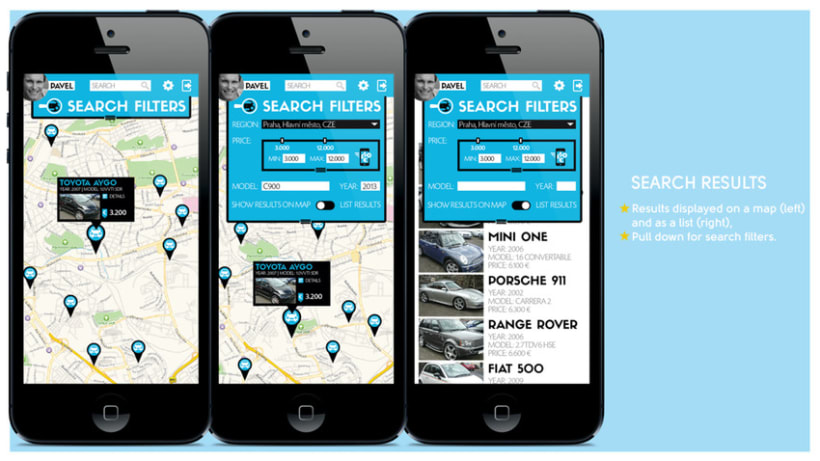 Used Car Seek / Mobile App Concept 2