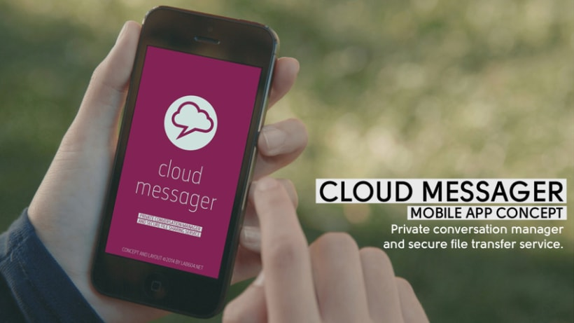Cloud Messager / Mobile App Concept -1