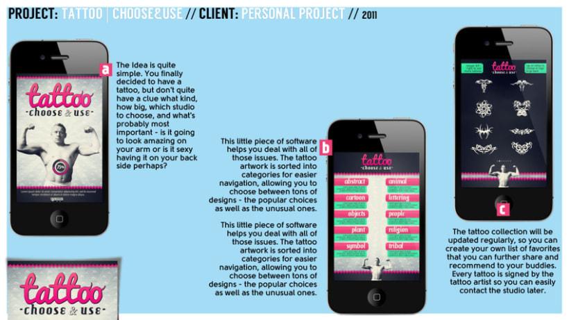 Tattoo - Choose & Use // Mobile App -1