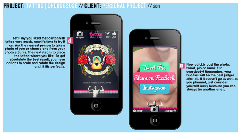 Tattoo - Choose & Use // Mobile App 0