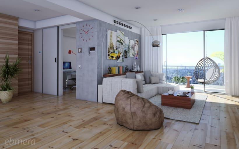 Render - Interior Loft -1