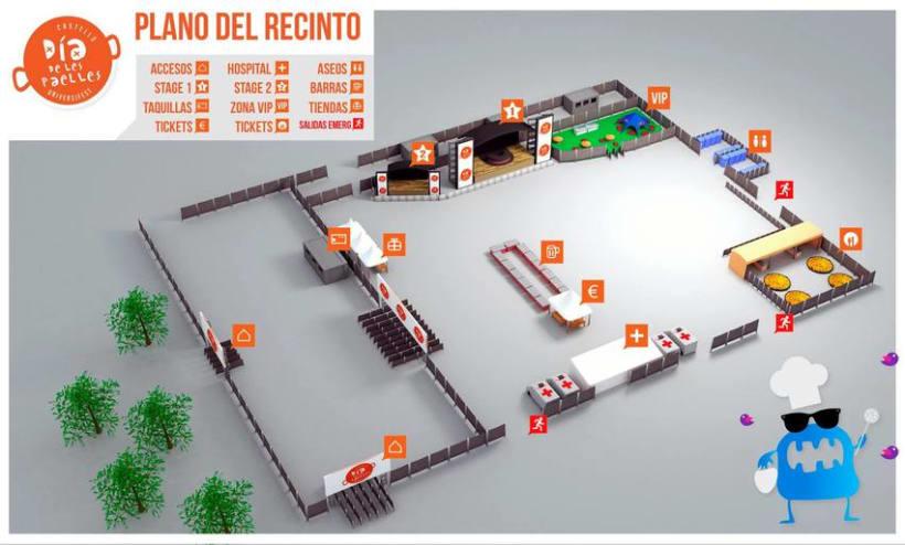 """3D Map """"Día de les Paelles"""" -1"""