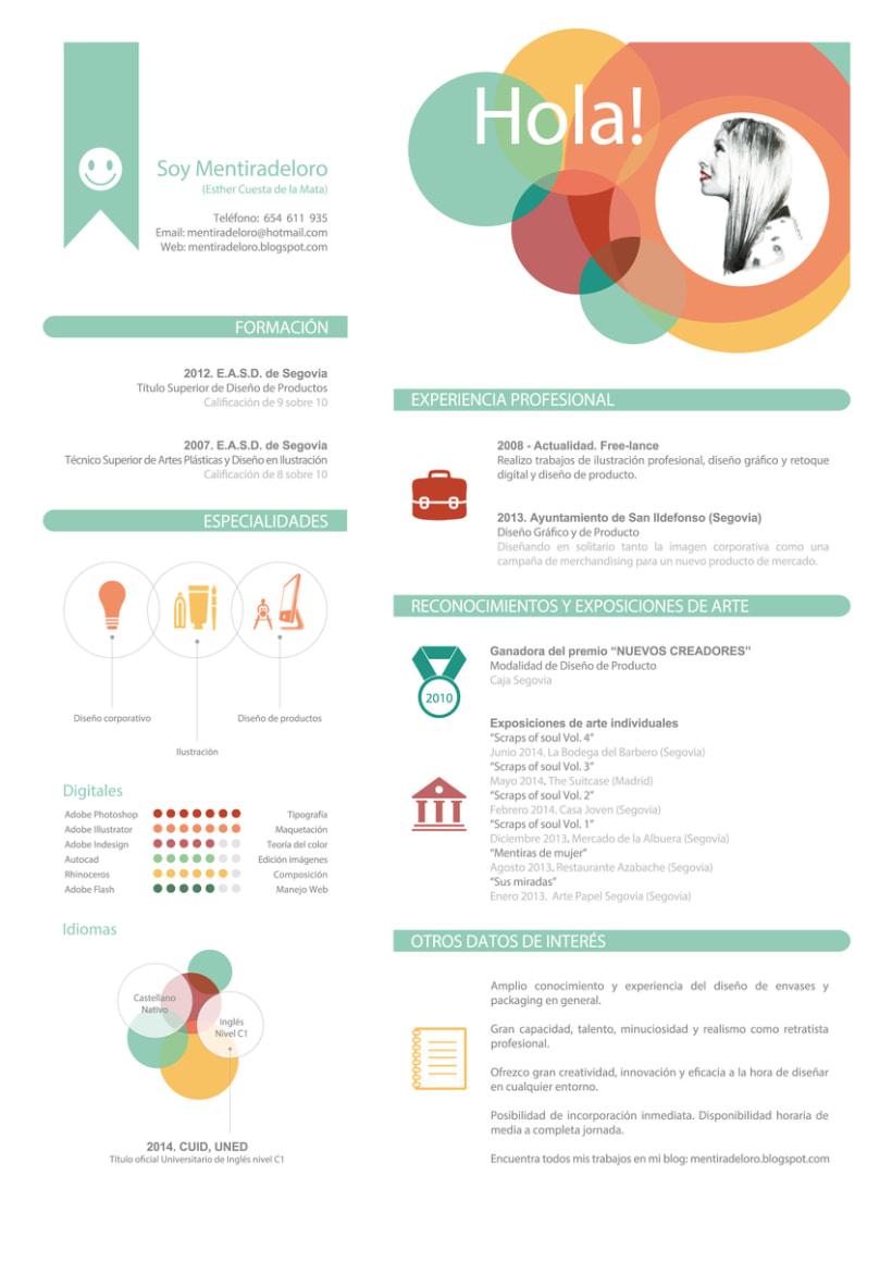 Mentiradeloro's creative Resume (Own resume) 1