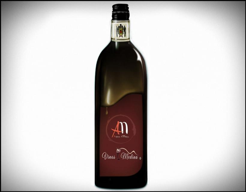 Vinos Medina - Logo Design 1